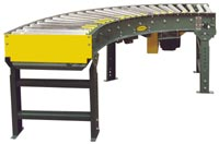 190-LRC Belt Driven Live Roller Conveyor Curve