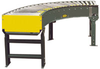 Hytrol 138-NSPC Light Duty Live Roller Curve Conveyor