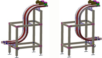 """C"" or ""S"" Configurations - Vertical Lift Conveyors"