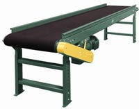 Hytrol TR Belt Conveyor - Medium Duty Horizontal Troughed Slider Bed Belt Conveyor