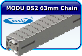 MODU DS2 63mm Thermplastic Chain Stainless Steel Conveyor