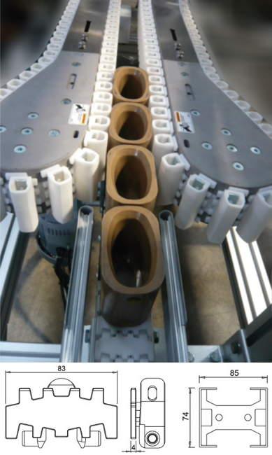 DM3 Plastic Chain Conveyor