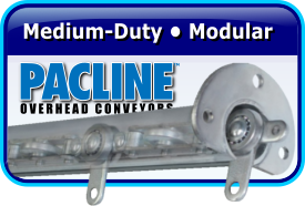 Pacline Medium-Duty Modular Overhead Conveyors
