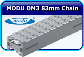 MODU DM3 83mm Thermplastic Chain Stainless Steel Conveyor