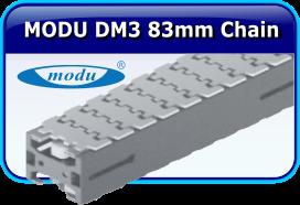 MODU DM3 83mm Thermplastic Chain Stainless Steel Conveyor