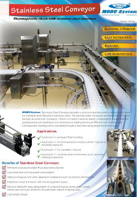 MODU Stainless Steel Conveyors